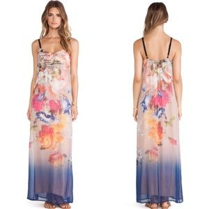 NEW 12th Street Cynthia Vincent Silk Floral Maxi